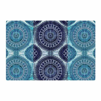 Nina May Mandala Stripe Digital Blue/Teal Area Rug Rug Size: 2 x 3
