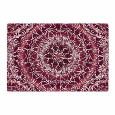 Nina May Madera Mandalas Maroon Illustration White Area Rug Rug Size: 2 x 3