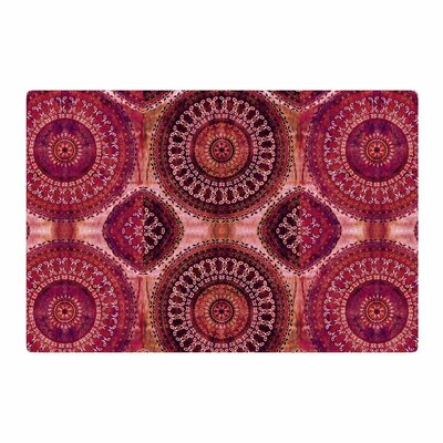 Nina May Mandala Stripe Mixed Media Magenta/Red Area Rug Rug Size: 2 x 3