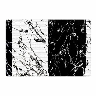 Nina May Neutra Splatter Mixed Media Black/White Area Rug Rug Size: 2 x 3