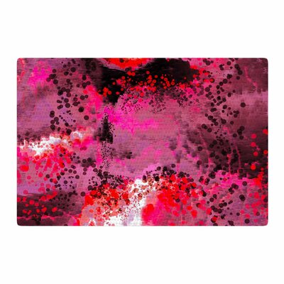 Nina May Fizz Digital Pink/Red Area Rug Rug Size: 2 x 3