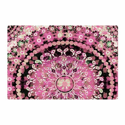 Nina May Mosaic Mandala Illustration Pink/Beige Area Rug Rug Size: 2 x 3
