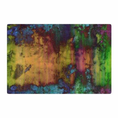 Nina May Rainbow Saltwater Painting Blue/Green Area Rug Rug Size: 2 x 3