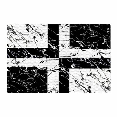 Nina May Ska Splatter Mixed Media Black/White Area Rug Rug Size: 4 x 6