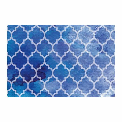 NL Designs Watercolor Moroccan Digital Blue/Coral Area Rug Rug Size: 2 x 3