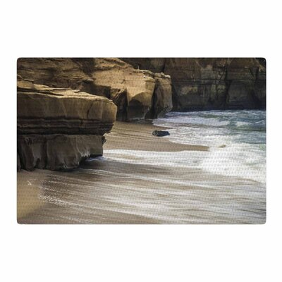 Nick Nareshni La Jolla Cliffside Sandstone White Area Rug Rug Size: 2 x 3