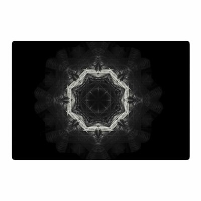 Nick Nareshni Mystical Mandala Geometric Black/Grey Area Rug Rug Size: 4 x 6