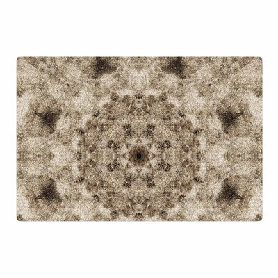 Nick Nareshni Sandy Beach Mandala Tan/Black Area Rug Rug Size: 2 x 3