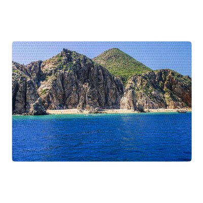 Nick Nareshni Stone Hills Coastline Green/Blue Area Rug Rug Size: 4 x 6