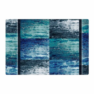 Nina May Tavertina Mixed Media Blue/TealArea Rug Rug Size: 2 x 3