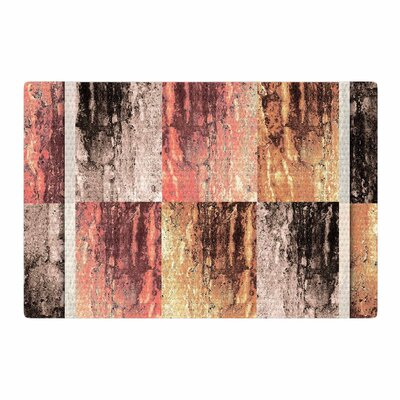 Nina May Tavertina Earth Digital Coral/Brown Area Rug Rug Size: 4 x 6