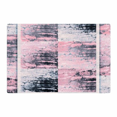 Nina May Tavertina Mixed Media Gray/Pink Area Rug Rug Size: 2 x 3