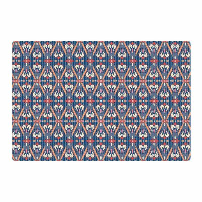 Nandita Singh Beautiful Border Ethnic Arabesque Blue/Pink Area Rug Rug Size: 2 x 3