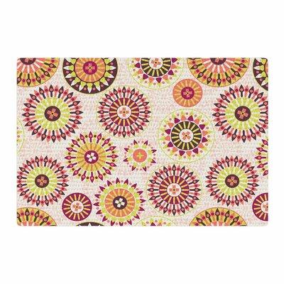 Nandita Singh Mandala Floral Pink Area Rug Rug Size: 2 x 3