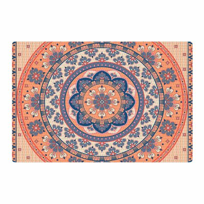 Nandita Singh Mandala Magic Coral Digital Ethnic Beige Area Rug Rug Size: 2 x 3