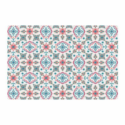Nandita Singh Moroccan Beauty Coral Ethnic Arabesque Blue Area Rug Rug Size: 2 x 3