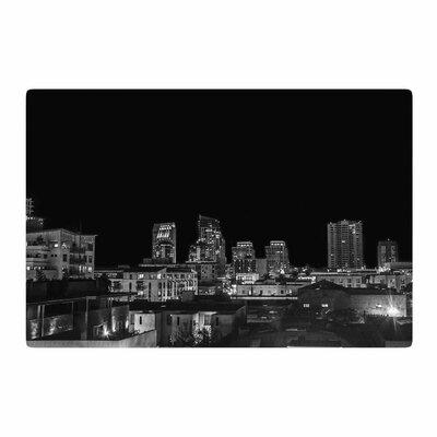 Nick Nareshni Cityscape Nights Black/White Area Rug Rug Size: 2 x 3