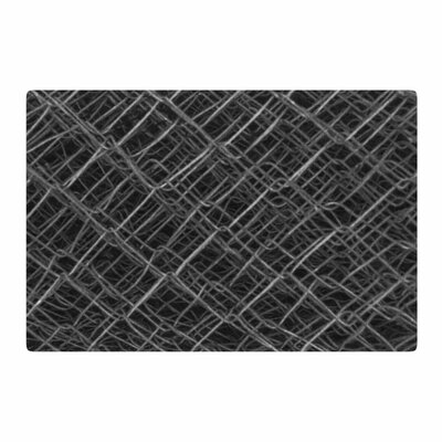 Nick Nareshni Urban Metal Links Black/White Area Rug Rug Size: 4 x 6