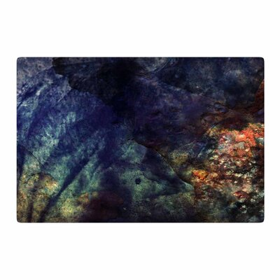 Pia Schneider Abstraction No12 Mixed Media Black Area Rug Rug Size: 2 x 3