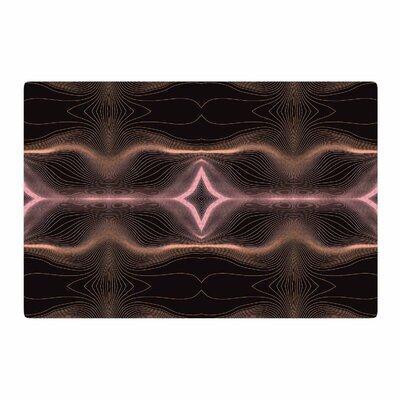 Pia Schneider Hazelnut Pale Line Vibes Digital Lavender/Brown Area Rug Rug Size: 2 x 3