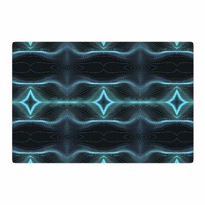 Pia Schneider Niagara Line Vibes Digital Blue/Black Area Rug Rug Size: 2 x 3
