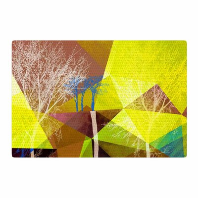 Pia Schneider P17 Yellow/Blue Area Rug Rug Size: 2 x 3