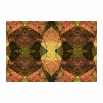 Pia Schneider Pattern Garden No1 Geometric Green/Gold Area Rug Rug Size: 4 x 6