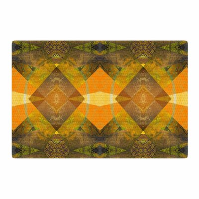 Pia Schneider Pattern Garden No4 Geometric Orange/Gold Area Rug Rug Size: 2 x 3