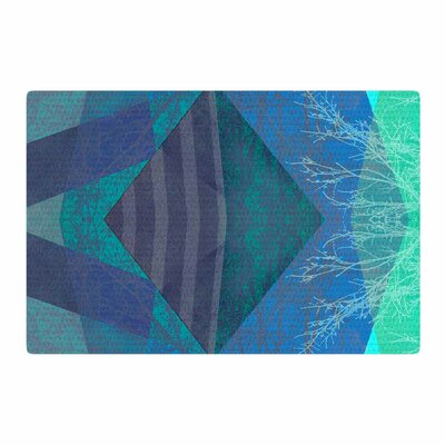 Pia Schneider Turquoise Blue Pattern 19A Teal Mixed Media Blue Area Rug Rug Size: 2 x 3