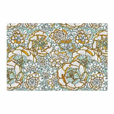 Pom Graphic Design Succulents Paradise Vintage Illustration Black/Gold Area Rug Rug Size: 2 x 3