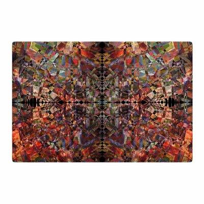 Pia Schneider Mosaic I Vector Orange Area Rug Rug Size: 4 x 6