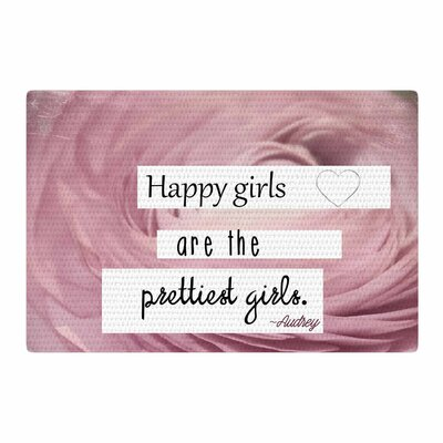 Robin Dickinson Happy Girls Pink/Green Area Rug Rug Size: 4 x 6