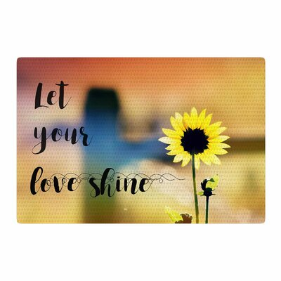 Robin Dickinson Let Your Love Shine Photography Yellow/Orange Area Rug Rug Size: 2 x 3
