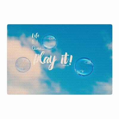 Robin Dickinson Life is a Game Photography Blue/White Area Rug Rug Size: 2 x 3