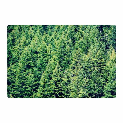 Robin Dickinson Summertime Woodlands Green/Black Area Rug Rug Size: 2 x 3