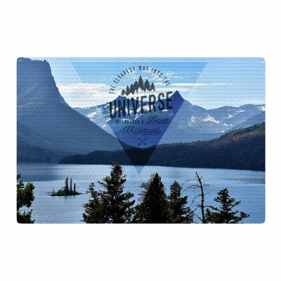 Robin Dickinson Through the Wilderness Photography Blue/Black Area Rug Rug Size: 2 x 3