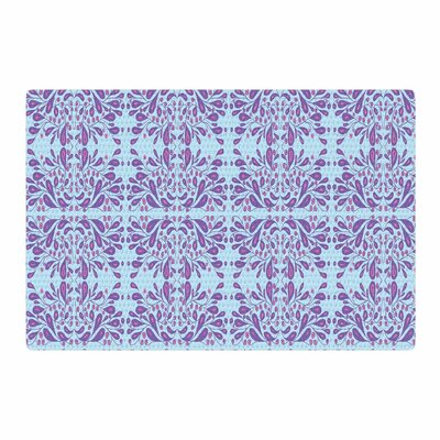 Rosie Bloom Mixed Media Blue/Purple Area Rug Rug Size: 4 x 6