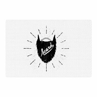 BarmalisiRTB Beard Black/White Area Rug Rug Size: 4 x 6