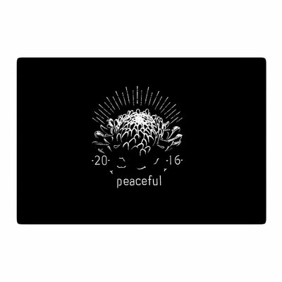 BarmalisiRTB Peaceful Black/White Area Rug Rug Size: 2 x 3