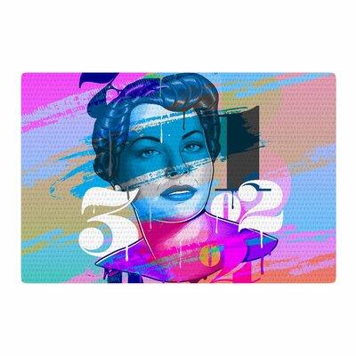 Roberlan Numbers Lady Digital Magenta/Blue Area Rug Rug Size: 4 x 6
