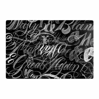 Roberlan Sketchaos Mixed Media Black/White Area Rug Rug Size: 2 x 3