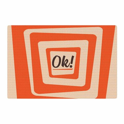 Roberlan So Ok Vector Orange/Tan Area Rug Rug Size: 2 x 3