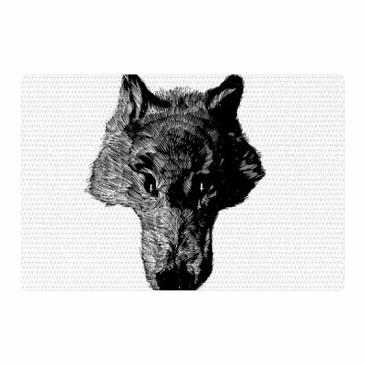 BarmalisiRTB Head Coyote Digital Black/White Area Rug Rug Size: 2 x 3