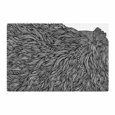 BarmalisiRTB Bushy Digital Black/White Area Rug Rug Size: 2 x 3