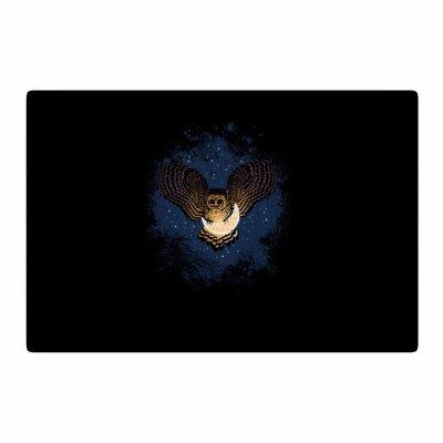 BarmalisiRTB Catch The Moon Digital Blue/Yellow Area Rug Rug Size: 2 x 3