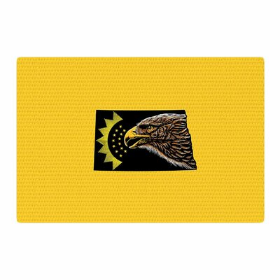 BarmalisiRTB North Dakota Digital Yellow/Black Area Rug Rug Size: 4 x 6
