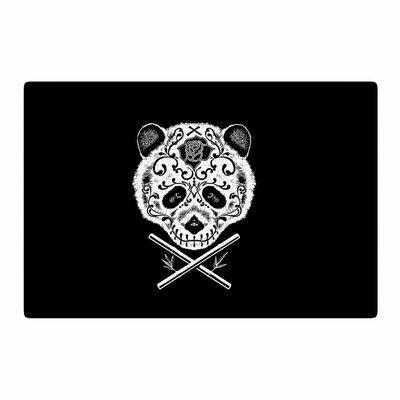 BarmalisiRTB Panda De La Muerte Digital Black/White Area Rug Rug Size: 2 x 3