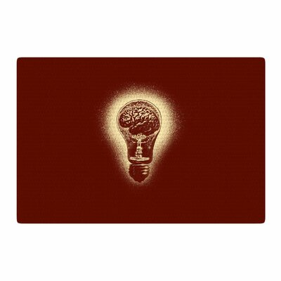 BarmalisiRTB Brain Stun Digital Brown/Coral Area Rug Rug Size: 4 x 6
