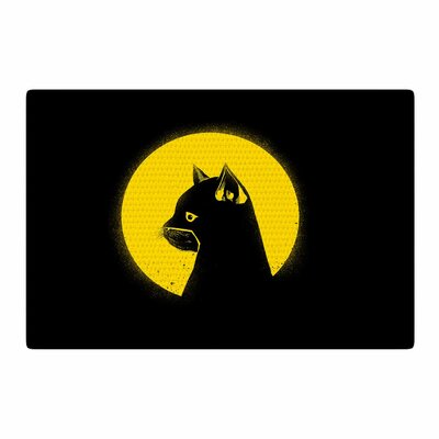 BarmalisiRTB Hero Cat Digital Black/Yellow Area Rug Rug Size: 4 x 6