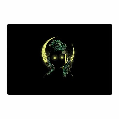 BarmalisiRTB Mystery Woman Digital Black/Green Area Rug Rug Size: 2 x 3
